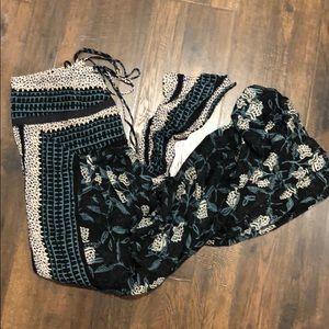 Free People Long Bohemian Maxi Skirt